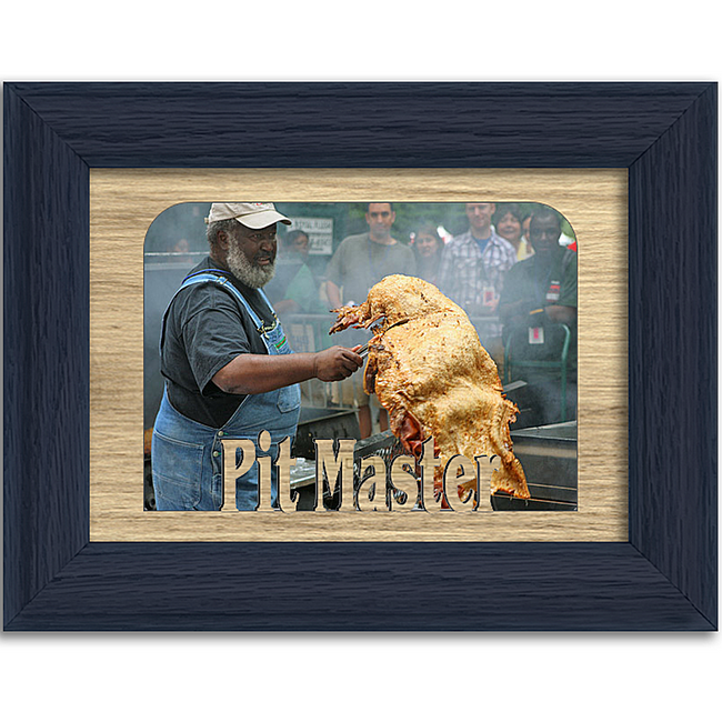 Pit Master Tabletop Picture Frame - Holds 4x6 Photo - Multiple Color Options