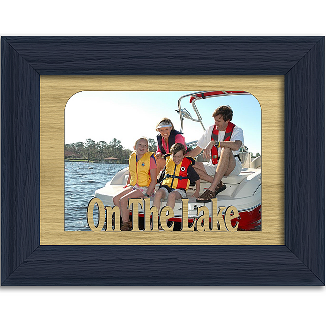 On The Lake Tabletop Picture Frame - Holds 4x6 Photo - Multiple Color Options