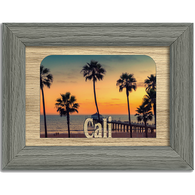 Cali Tabletop Picture Frame - Holds 4x6 Photo - Multiple Color Options