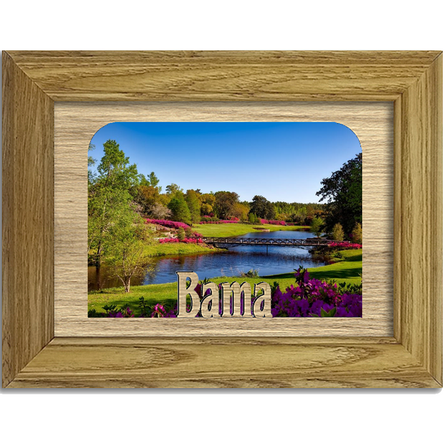 Bama Tabletop Picture Frame - Holds 4x6 Photo - Multiple Color Options