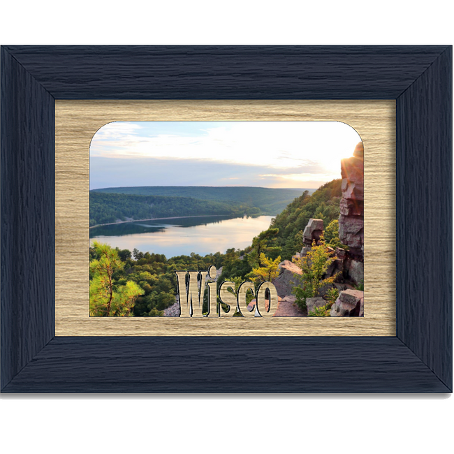 Wisco Tabletop Picture Frame - Holds 4x6 Photo - Multiple Color Options