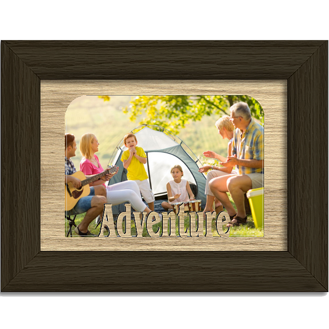 Adventure Tabletop Picture Frame - Holds 4x6 Photo - Multiple Color Options
