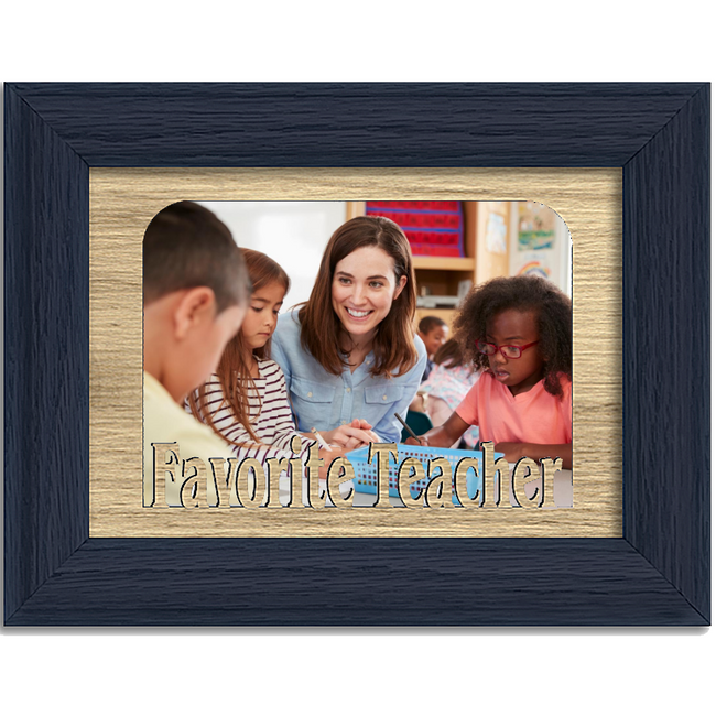 Favorite Teacher Tabletop Picture Frame - Holds 4x6 Photo - Multiple Color Options