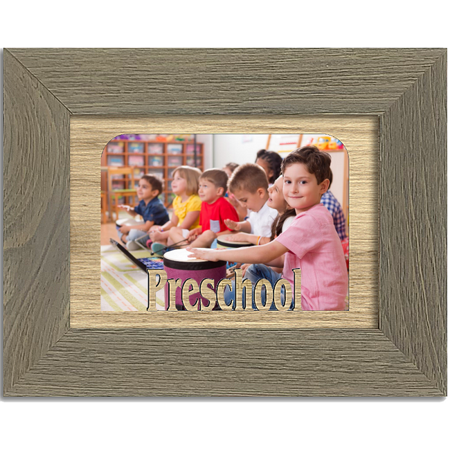 Preschool Tabletop Picture Frame - Holds 4x6 Photo - Multiple Color Options