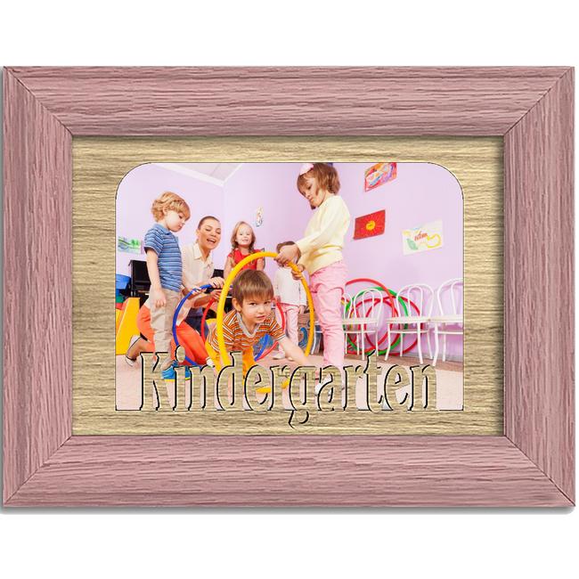 Kindergarten Tabletop Picture Frame - Holds 4x6 Photo - Multiple Color Options