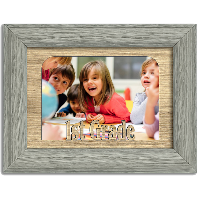 1st Grade Tabletop Picture Frame - Holds 4x6 Photo - Multiple Color Options