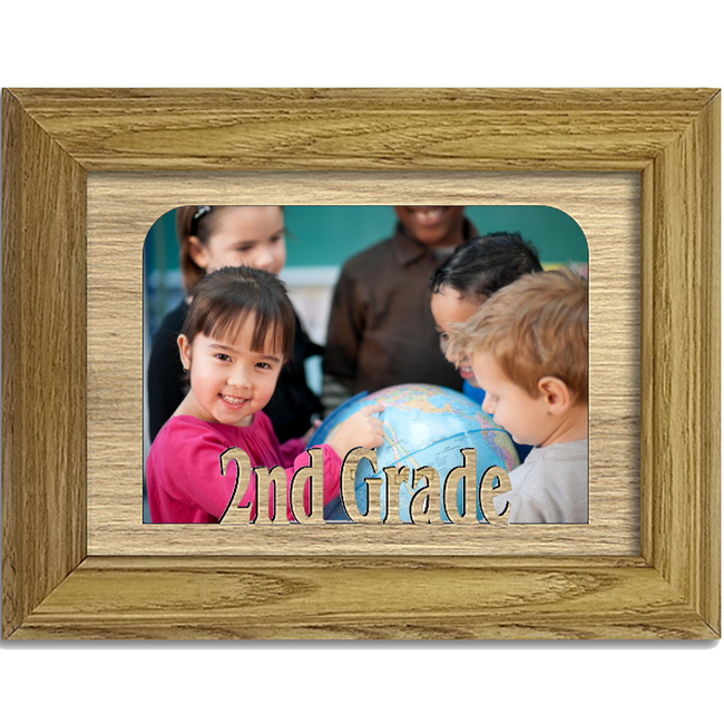 2nd Grade Tabletop Picture Frame - Holds 4x6 Photo - Multiple Color Options
