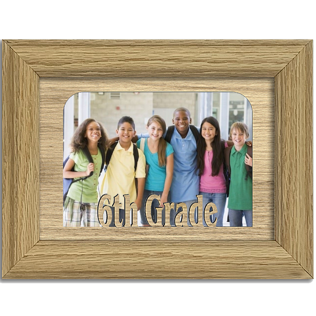 6th Grade Tabletop Picture Frame - Holds 4x6 Photo - Multiple Color Options