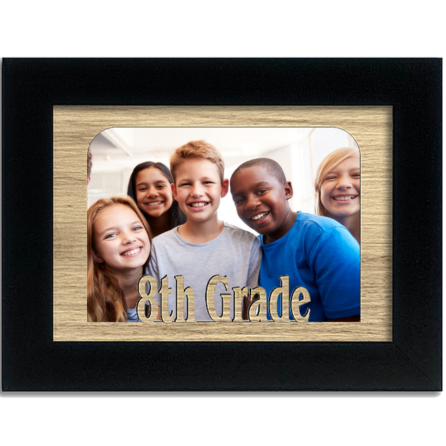 8th Grade Tabletop Picture Frame - Holds 4x6 Photo - Multiple Color Options