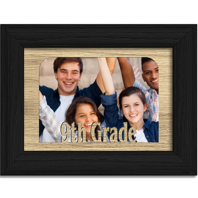 9th Grade Tabletop Picture Frame - Holds 4x6 Photo - Multiple Color Options