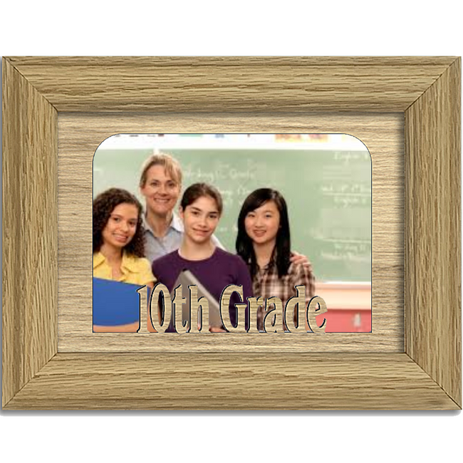 10th Grade Tabletop Picture Frame - Holds 4x6 Photo - Multiple Color Options
