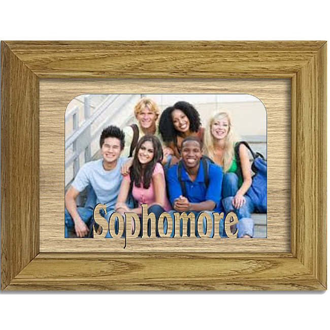 Sophomore Tabletop Picture Frame - Holds 4x6 Photo - Multiple Color Options