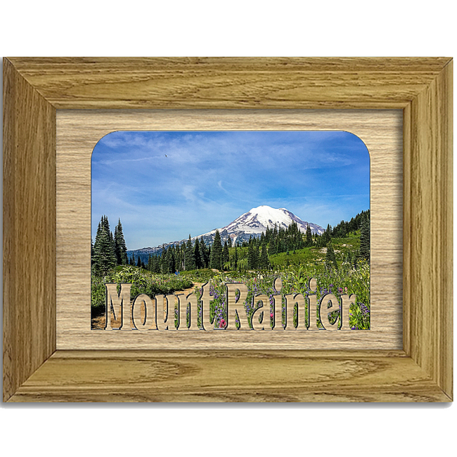 Mount Rainier Tabletop Picture Frame - Holds 4x6 Photo - Multiple Color Options