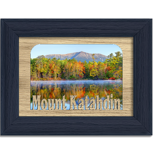 Mount Katahdin Tabletop Picture Frame - Holds 4x6 Photo - Multiple Color Options
