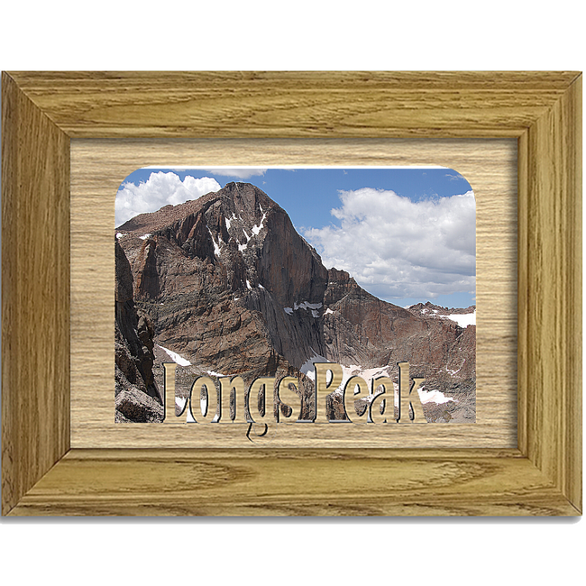 Longs Peak Tabletop Picture Frame - Holds 4x6 Photo - Multiple Color Options