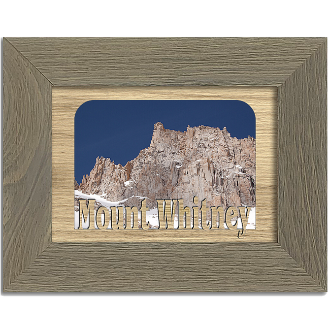 Mount Whitney Tabletop Picture Frame - Holds 4x6 Photo - Multiple Color Options