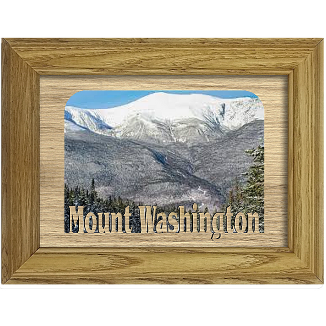 Mount Washington Tabletop Picture Frame - Holds 4x6 Photo - Multiple Color Options