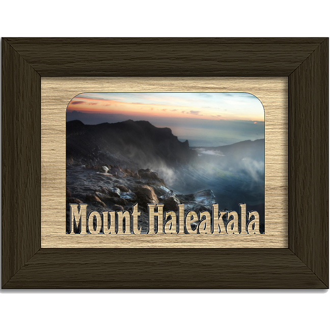 Mount Haleakala Tabletop Picture Frame - Holds 4x6 Photo - Multiple Color Options