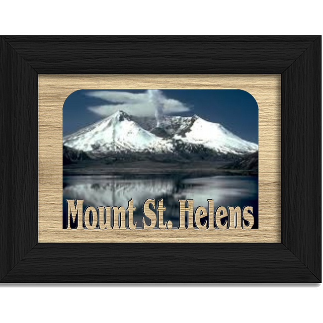 Mount St. Helens Tabletop Picture Frame - Holds 4x6 Photo - Multiple Color Options