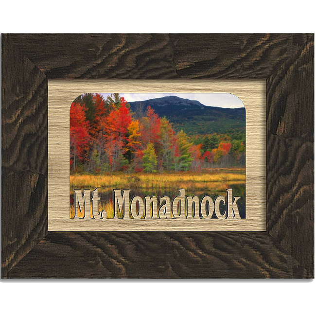 Mt. Monadnock Tabletop Picture Frame - Holds 4x6 Photo - Multiple Color Options