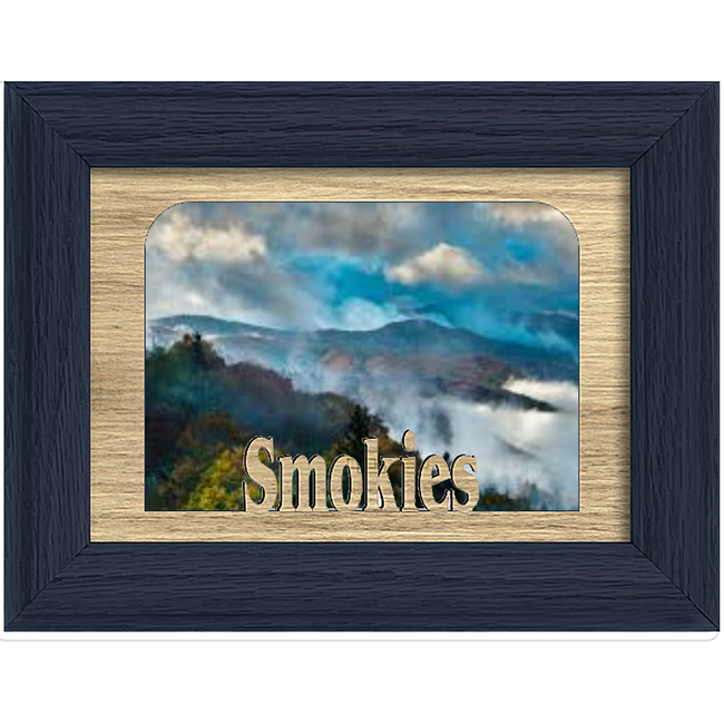 Smokies Tabletop Picture Frame - Holds 4x6 Photo - Multiple Color Options