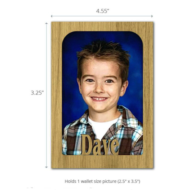 Magnetic Photo Frame - Personalized with Any Name - Refrigerator Magnet for School Locker, File Cabinet - Multiple Color Options