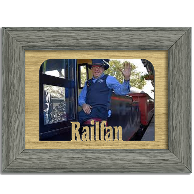 Railfan Tabletop Picture Frame - Holds 4x6 Photo - Multiple Color Options