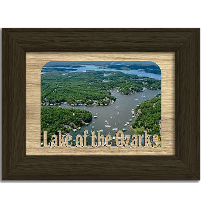 Missouri Lake of the Ozarks Personalized Custom Lake Name Picture Frame 5x7