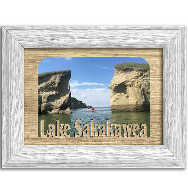 North Dakota Lake Sakakawea Personalized Custom Lake Name Picture Frame 5x7