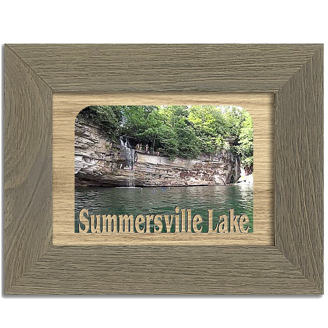 West Virginia Summersville Lake Personalized Custom Lake Name Picture Frame 5x7