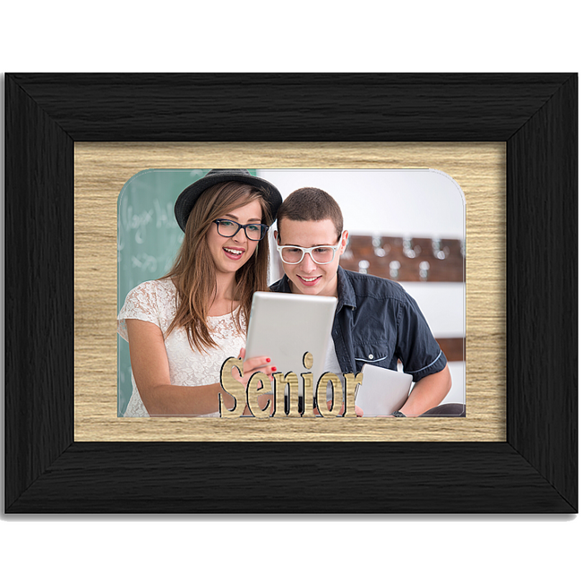 Senior Tabletop Picture Frame - Holds 4x6 Photo - Multiple Color Options