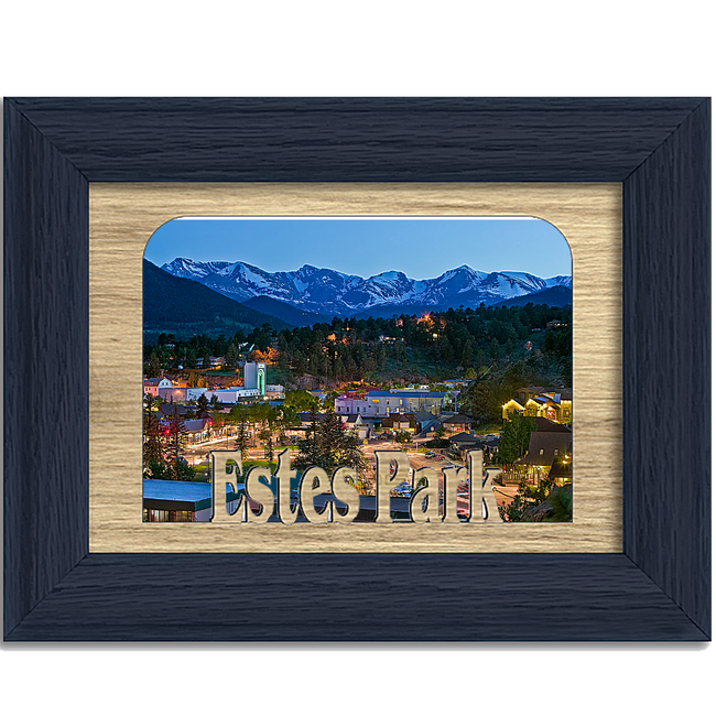 Estes Park Tabletop Picture Frame - Holds 4x6 Photo - Multiple Color Options