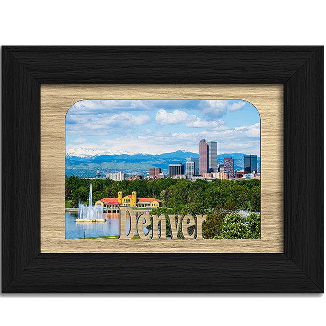 Denver Tabletop Picture Frame - Holds 4x6 Photo - Multiple Color Options