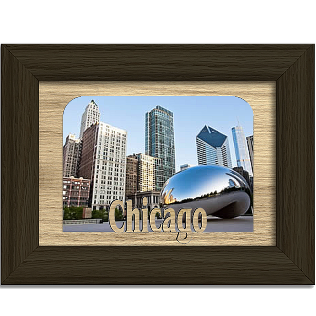 Chicago Tabletop Picture Frame - Holds 4x6 Photo - Multiple Color Options