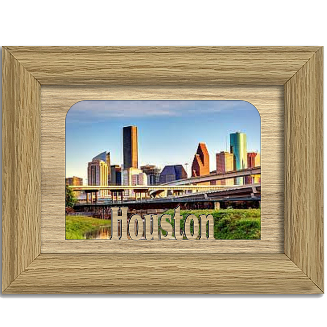Houston Tabletop Picture Frame - Holds 4x6 Photo - Multiple Color Options