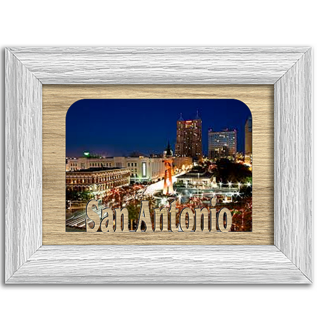 San Antonio Tabletop Picture Frame - Holds 4x6 Photo - Multiple Color Options