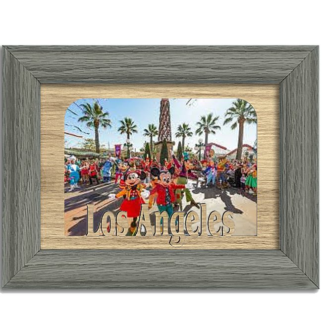 Los Angeles Tabletop Picture Frame - Holds 4x6 Photo - Multiple Color Options