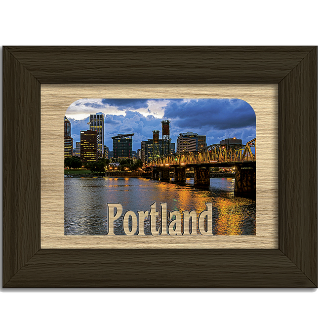 Portland Tabletop Picture Frame - Holds 4x6 Photo - Multiple Color Options