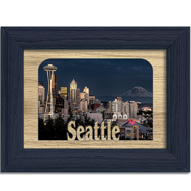 Seattle Tabletop Picture Frame - Holds 4x6 Photo - Multiple Color Options
