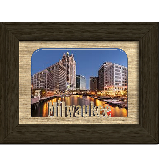 Milwaukee Tabletop Picture Frame - Holds 4x6 Photo - Multiple Color Options