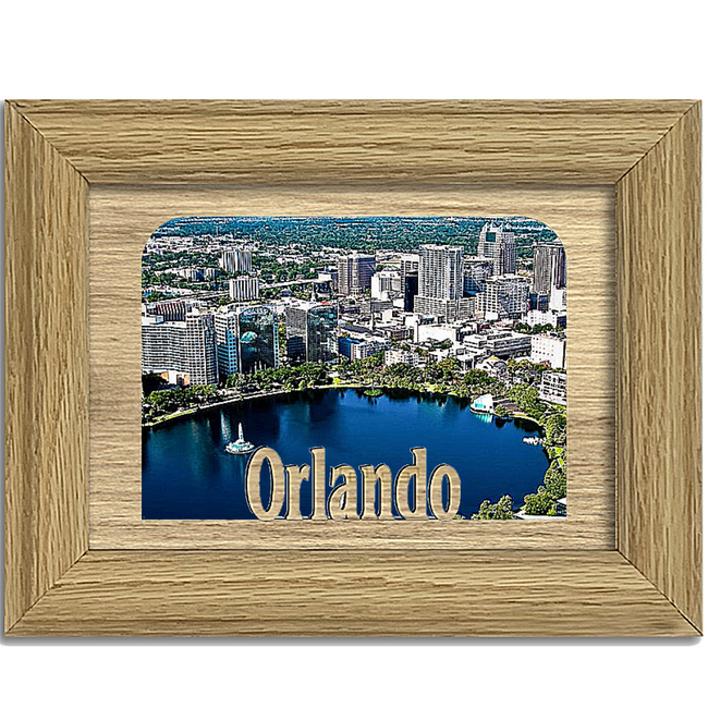 Orlando Tabletop Picture Frame - Holds 4x6 Photo - Multiple Color Options