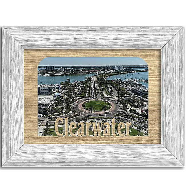 Clearwater Tabletop Picture Frame - Holds 4x6 Photo - Multiple Color Options