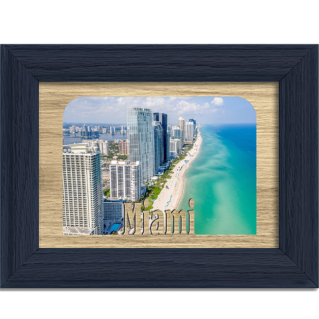 Miami Tabletop Picture Frame - Holds 4x6 Photo - Multiple Color Options