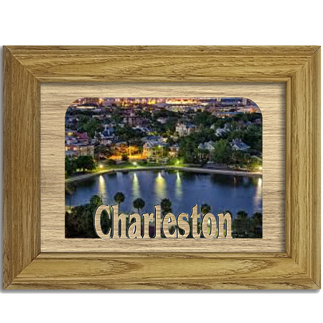 Charleston Tabletop Picture Frame - Holds 4x6 Photo - Multiple Color Options