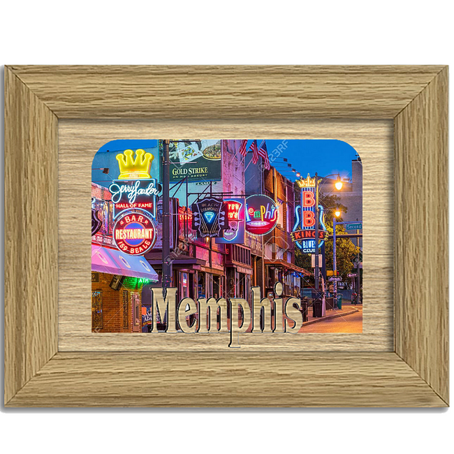 Memphis Tabletop Picture Frame - Holds 4x6 Photo - Multiple Color Options