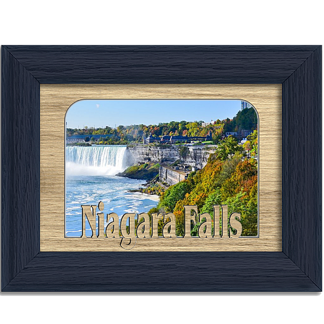 Niagara Falls Tabletop Picture Frame - Holds 4x6 Photo - Multiple Color Options