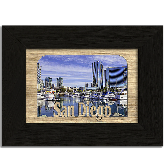 San Diego Tabletop Picture Frame - Holds 4x6 Photo - Multiple Color Options
