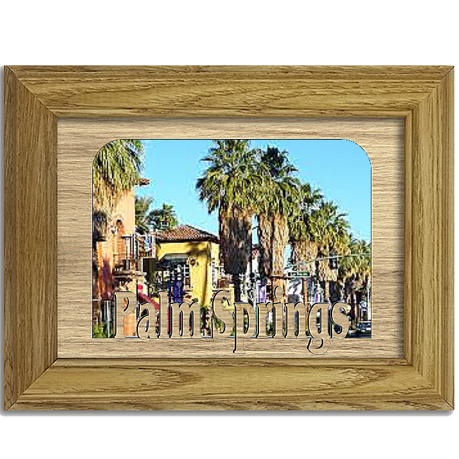 Palm Springs Tabletop Picture Frame - Holds 4x6 Photo - Multiple Color Options
