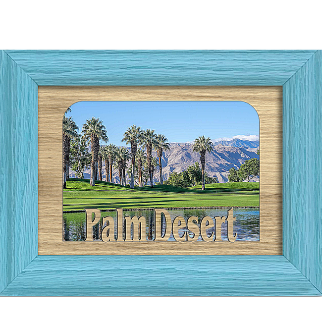 Palm Desert Tabletop Picture Frame - Holds 4x6 Photo - Multiple Color Options