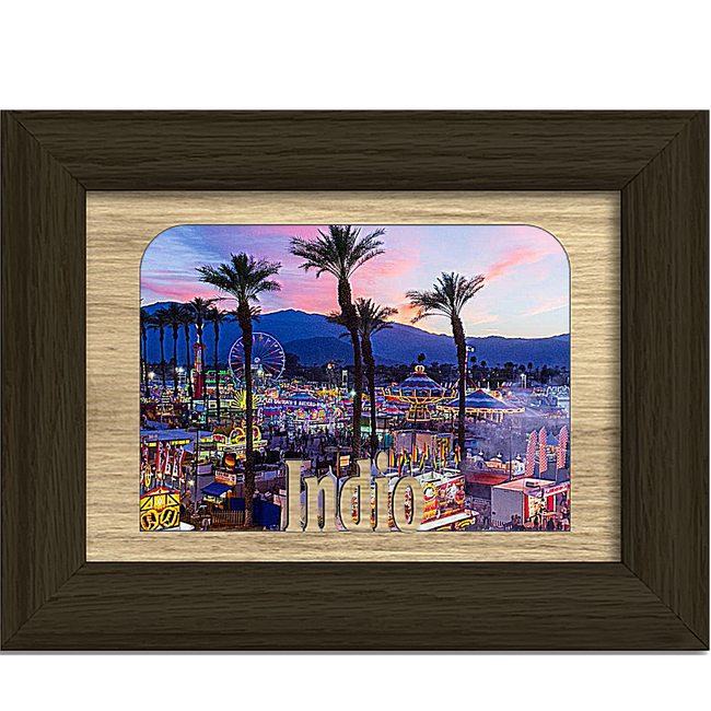 Indio Tabletop Picture Frame - Holds 4x6 Photo - Multiple Color Options